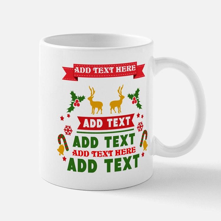 personalized add Text Christmas Mug