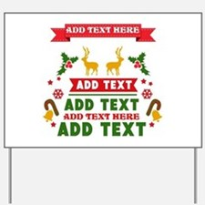personalized add Text Christmas Yard Sign