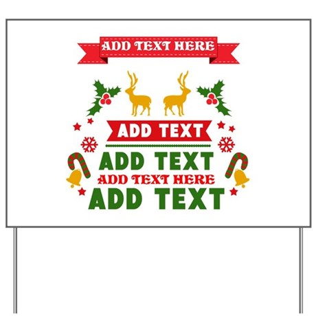 Perfect Personalized Add Text Christmas Yard Sign