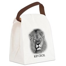 RIP Cecil The Lion Canvas Lunch Bag