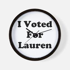 Voted For Lauren Wall Clock