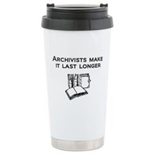 Funny Library books Travel Mug