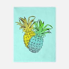 Pineapples On Blue, Twin Duvet