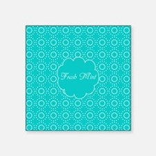 "Cute Bright Turquoise Patte Square Sticker 3"" x 3"""