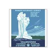 """Cute Wpa national parks Square Sticker 3"""" x 3"""""""