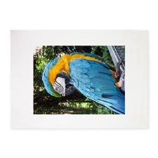 Blue And Yellow Macaw 1 5'x7'Area Rug