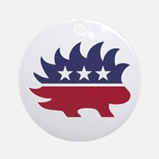 Libertarian party Round Ornament