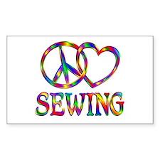 Peace Love Sewing Bumper Stickers