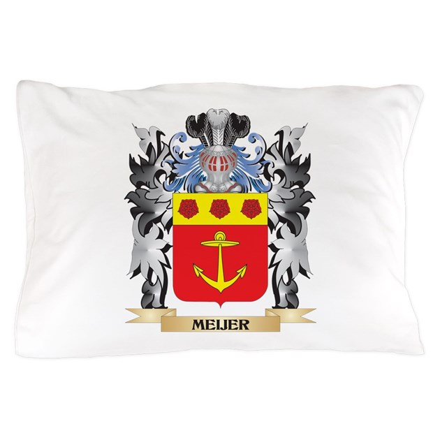 Throw Pillows Magnolia : Meijer Coat of Arms - Family Crest Pillow Case by Admin_CP2183672