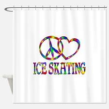 Peace Love Ice Skating Shower Curtain