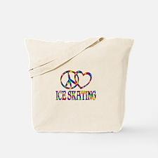 Peace Love Ice Skating Tote Bag