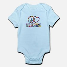 Peace Love Ice Skating Infant Bodysuit