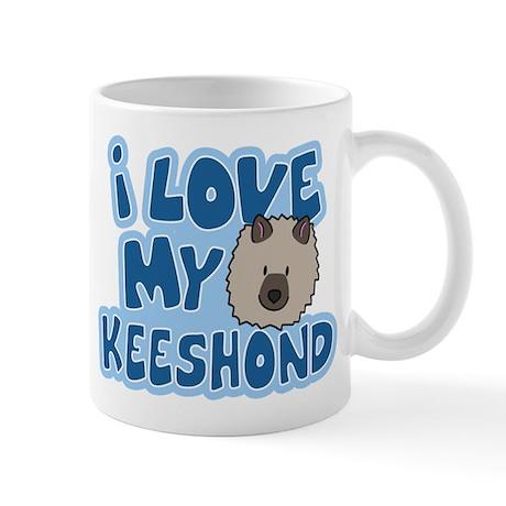 I Love my Keeshond Mug (Cartoon)