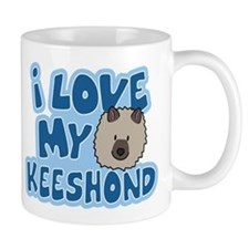 I Love my Keeshond Mug (Cartoon)