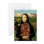 Mona's Ruby Cavalier Greeting Cards (Pk of 20)