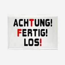 ACHTING, FERTIG, LOS! - READY,STEADY,GO! Magnets