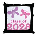2028 butterflies class.png Throw Pillow