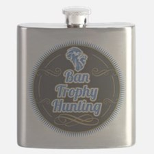 Ban Trophy Hunting Flask
