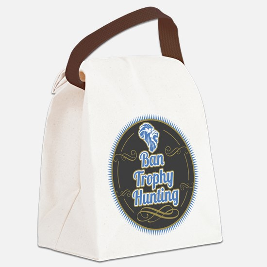 Ban Trophy Hunting Canvas Lunch Bag