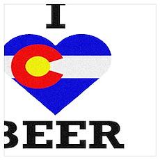 I Love Colorado Beer Poster