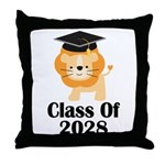 Class of 2028 Lion Throw Pillow