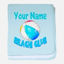 Beach Ball Club baby blanket