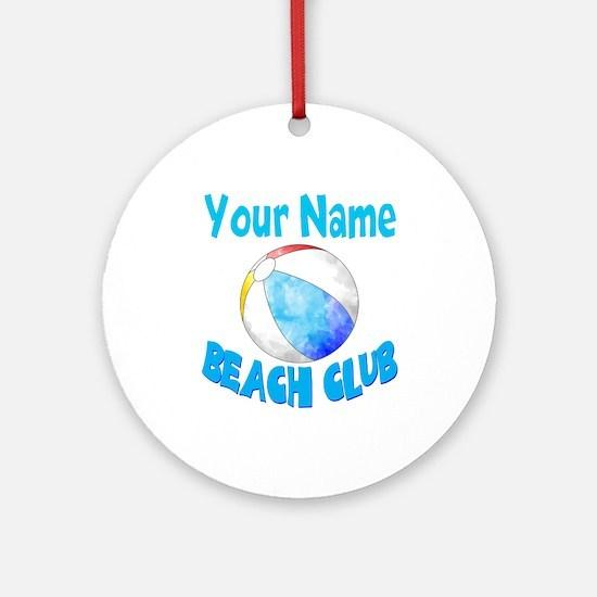 Beach Ball Club Round Ornament