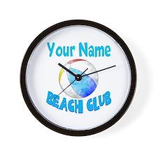 Beach Ball Club Wall Clock