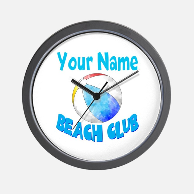 Beach Ball Club Wall Clock