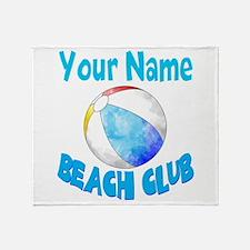 Beach Ball Club Throw Blanket