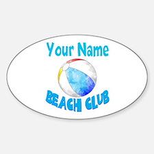 Beach Ball Club Decal