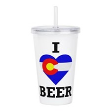 I Love Colorado Beer Acrylic Double-wall Tumbler
