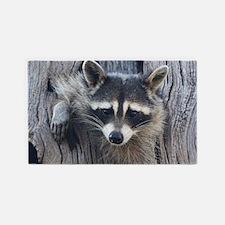 Raccoon in a Tree Area Rug