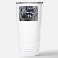 Raccoon in a Tree Stainless Steel Travel Mug
