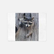 Raccoon in a Tree 5'x7'Area Rug