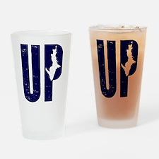 UP Michigan Drinking Glass