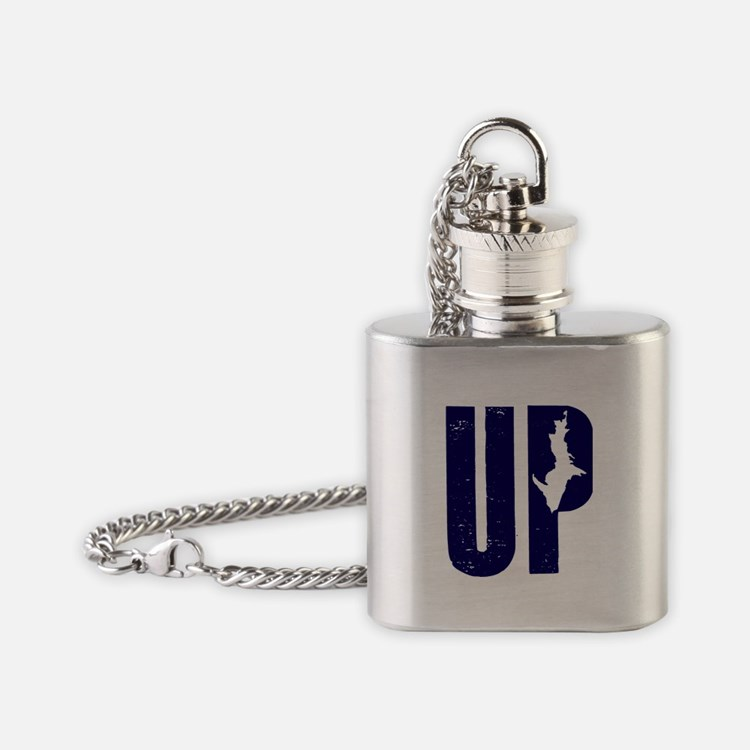 UP Michigan Flask Necklace