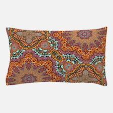 turquoise orange bohemian moroccan Pillow Case