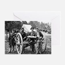 Civil War Union Officers Greeting Card
