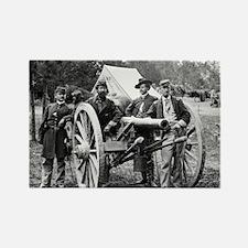 Civil War Union Officers Rectangle Magnet