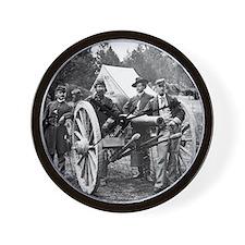 Civil War Union Officers Wall Clock