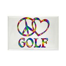 Peace Love Golf Rectangle Magnet