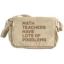 Math Teachers Problems Messenger Bag