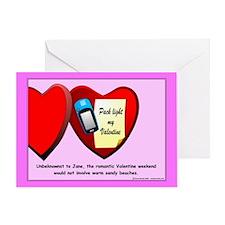 Valentine Geocacher Greeting Card