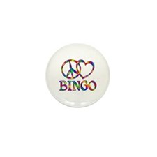 Peace Love Bingo Mini Button (10 pack)