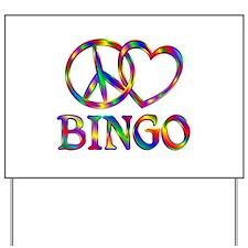 Peace Love Bingo Yard Sign