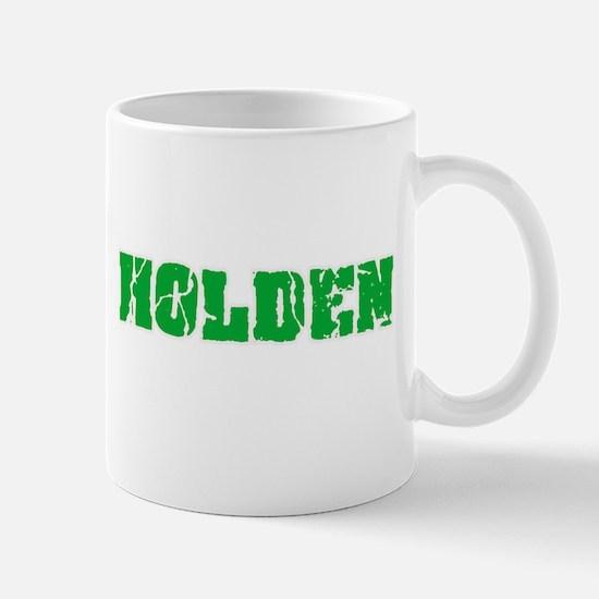 Holden Name Weathered Green Design Mugs