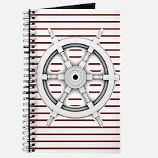 red stripes ship wheel nautical Journal