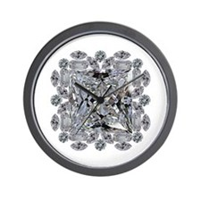 Diamond Gift Brooch Wall Clock