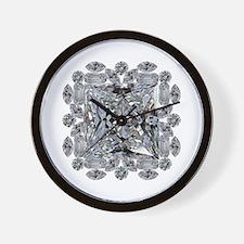 Diamond Gift Brooch Wall Clock